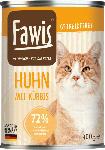 dm-drogerie markt Fawis Nassfutter für Katzen, Adult, Huhn mit Kürbis