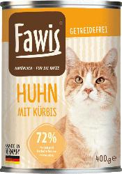 Fawis Nassfutter für Katzen, Adult, Huhn mit Kürbis