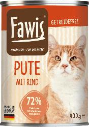 Fawis Nassfutter für Katzen, Adult, Pute mit Rind & Schwein