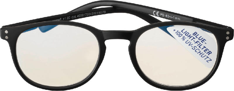 VISIOMAX Lesebrille Anti-Blue-Light, schwarz Dioptrie +2,5