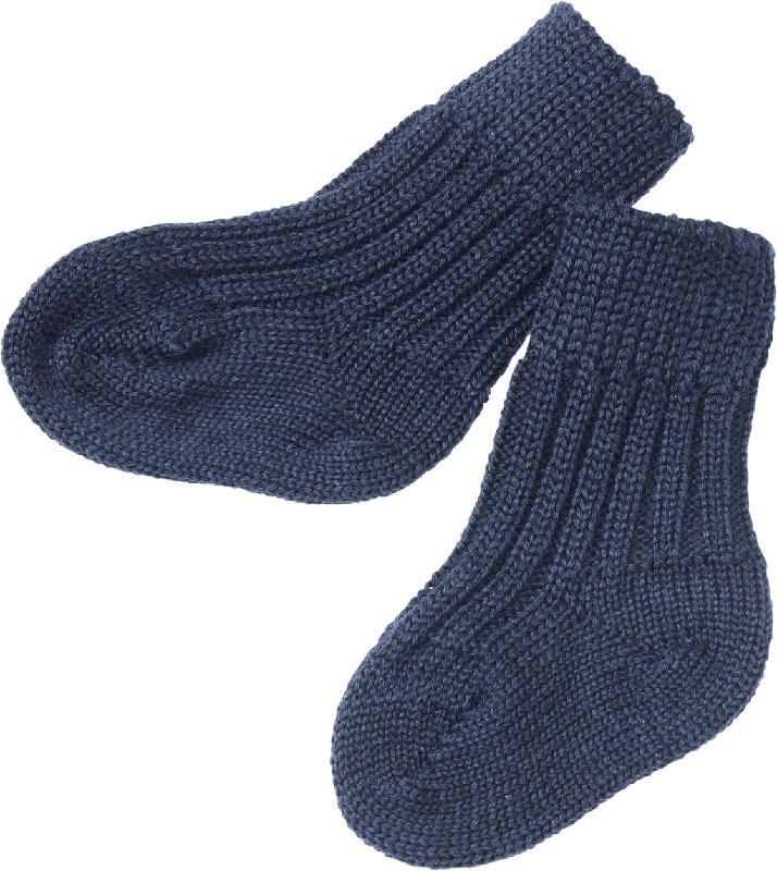 ALANA Baby Socken, Gr. 18/19, in Bio-Schurwolle und Bio-Baumwolle, blau, für Mädchen und Jungen