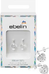 ebelin Ohrstecker 925 Silber veredelt mit Swarovski® Kristallen