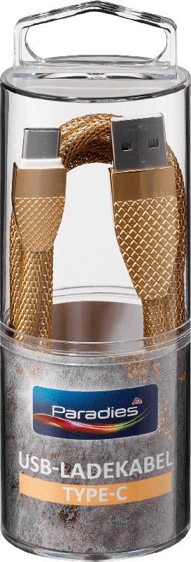 Paradies Metallic-Ladekabel Type-C Gold 1 St