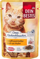 Dein Bestes Omas Küchenklassiker, Nassfutter für Katzen,  Landfrauenteller reich an Huhn mit Käse