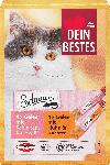dm-drogerie markt Dein Bestes Schnurr, Snack für Katzen, Gelee: 4 x Schinken, Käse, Ei, 8 x 10g