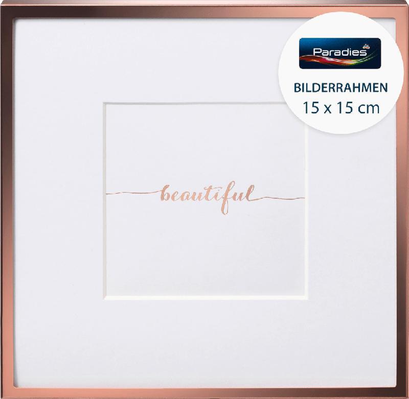 Paradies Bilderrahmen Metall Quadrat 15x15cm Roségold