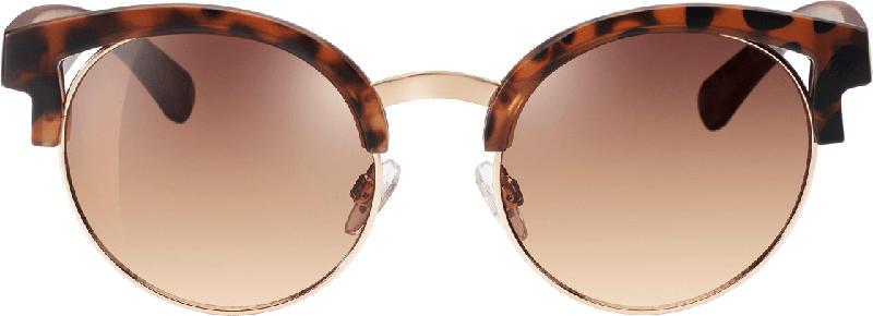 SUNDANCE Sonnenbrille für Erwachsene mit Cut-Outs, havanna-braun mit rosé goldenen Detials