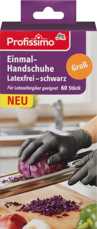 Profissimo Einmalhandschuhe latexfrei schwarz G
