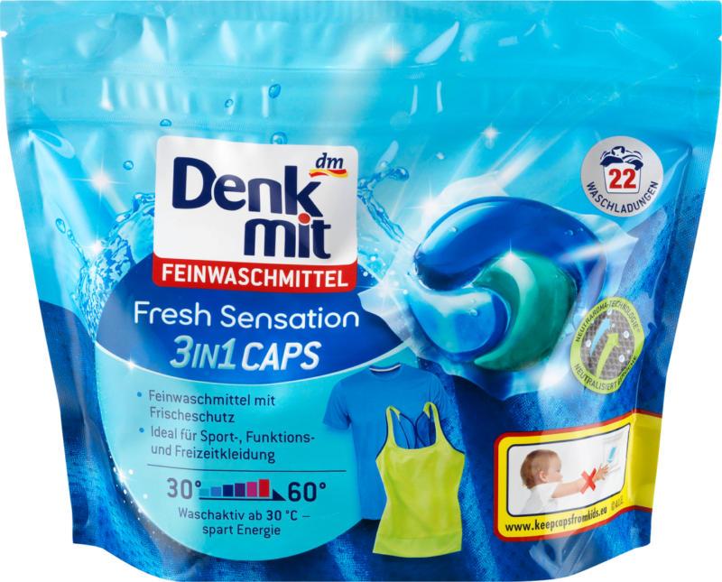 Denkmit Feinwaschmittel 3in1 Caps Fresh Sensation