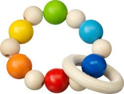 Entwicklungsfördernde Produkte Greifling mit Ring, aus Holz, bunt, für Mädchen und Jungen