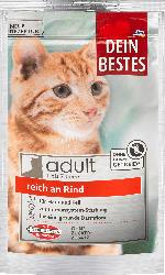 Dein Bestes Trockenfutter für Katzen Adult reich an Rind
