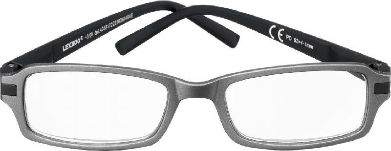 VISIOMAX Lesebrille grau/dunkelblau Dioptrie +1,0