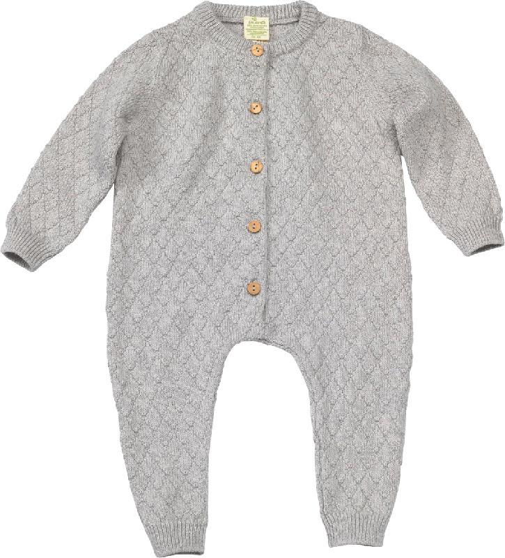ALANA Baby Overall, Gr. 80, in Bio-Schurwolle und Bio-Baumwolle, grau