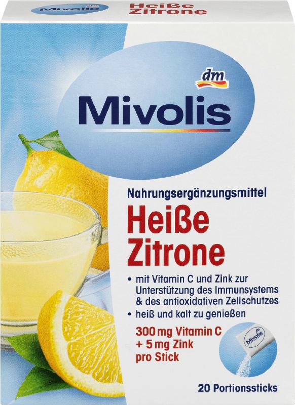 Mivolis Heißgetränk Heiße Zitrone, Portionssticks 20 St.