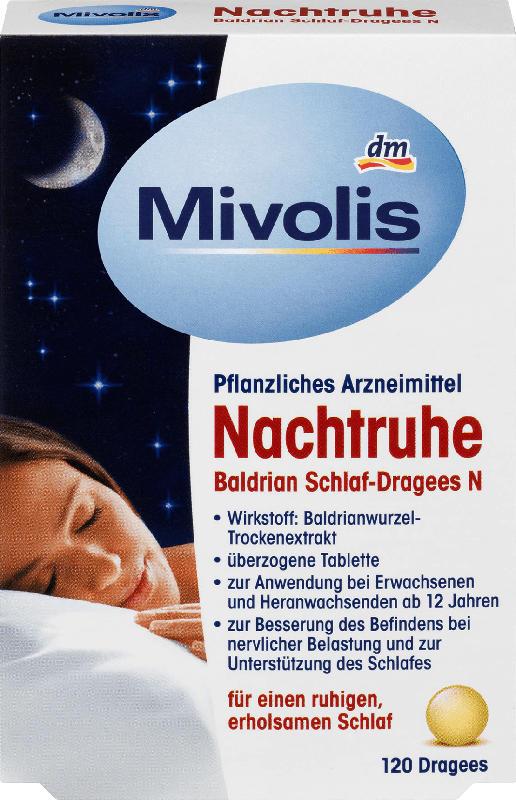 Mivolis Nachtruhe Baldrian Schlaf-Dragees N