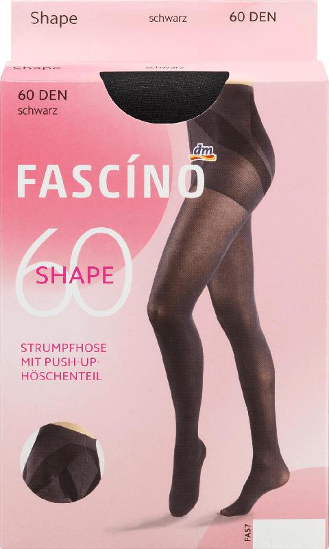 FASCÍNO Strumpfhose Push-Up, 60 den, schwarz, Gr. 42/44