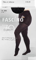 FASCÍNO Strumpfhose Curvy 70 den, schwarz, Gr. 50/52