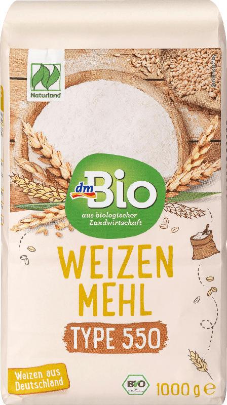 dmBio Mehl, Weizenmehl Type 550