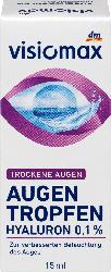 VISIOMAX Augentropfen mit 0,1% Hyaluron