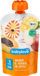 babylove Quetschie Mango & Papaya in Apfel  ab 1 Jahr