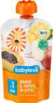 dm-drogerie markt babylove Quetschbeutel Mango & Papaya in Apfel  ab 1 Jahr