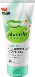 alverde NATURKOSMETIK Sensitiv After Shave Pflege Bio-Aloe Vera, Bio-Kamille