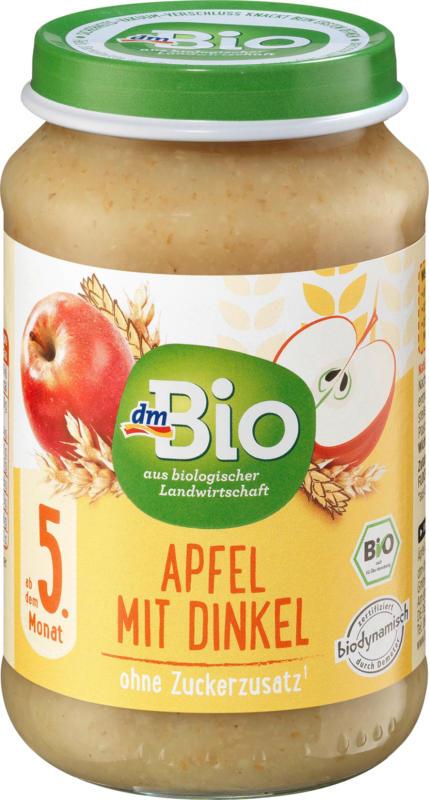 dmBio Frucht & Getreide Apfel mit Dinkel ab dem 5. Monat, Demeter