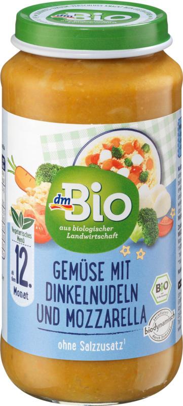 dmBio Gemüse mit Dinkelnudeln und Mozzarella ab dem 12. Monat, Demeter