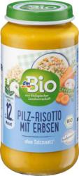 dmBio Menü Pilz-Risotto mit Erbsen ab 12. Monat, Demeter