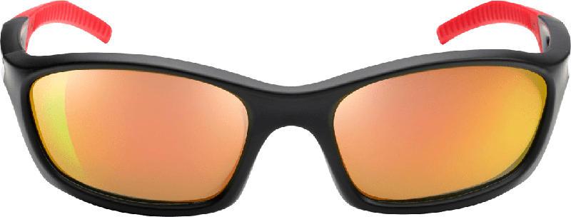 SUNDANCE Sonnenbrille für Kinder Sportmodell Rot/Schwarz