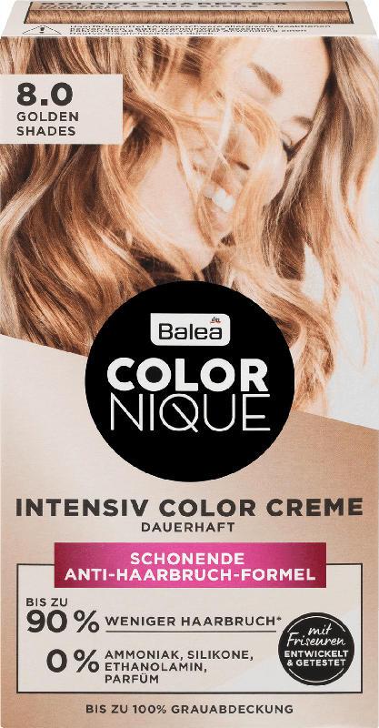 Balea COLORNIQUE Haarfarbe Golden Shades 8.0