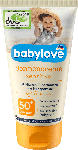 dm-drogerie markt babylove Sonnencreme Sensitiv LSF 50+
