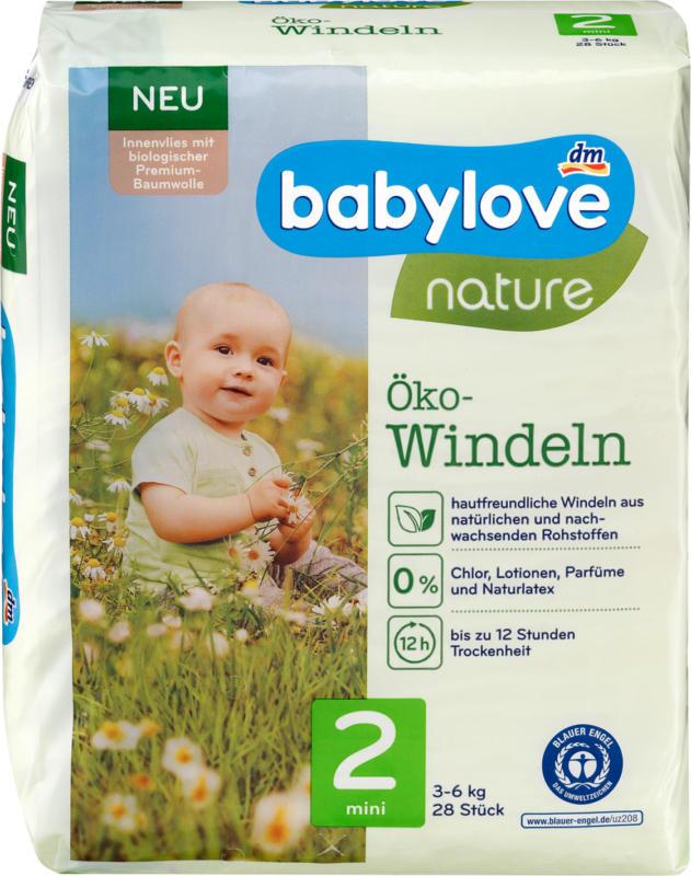 babylove Windeln nature Gr. 2, Mini, 3-6 kg
