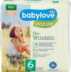 babylove Windeln nature Gr. 6, XXL, 16-30 kg