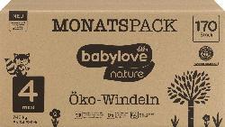 babylove Windeln nature Gr. 4, Maxi, 7-18 kg, Monatspack