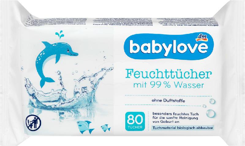 babylove Feuchttücher 99 % Wasser