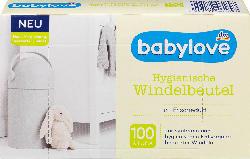 babylove Hygienische Windelbeutel mit Frischeduft