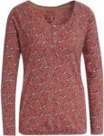 Ernsting's family Damen Langarmshirt mit Blätter-Print
