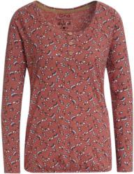 Damen Langarmshirt mit Blätter-Print (Nur online)