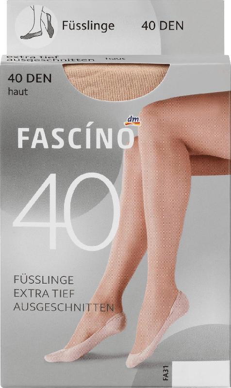 FASCÍNO Füßlinge 40den, hautfarben, Gr. 39-42