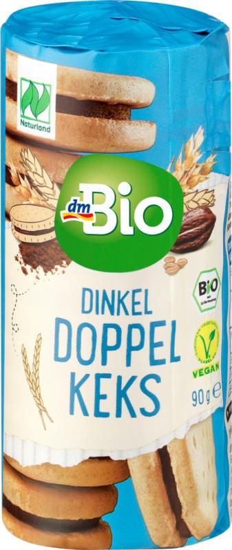 dmBio Kekse, Dinkel Doppelkeks Kakao, Mini, Naturland