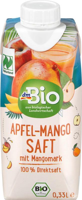 dmBio Saft, Apfel-Mango Saft, Naturland
