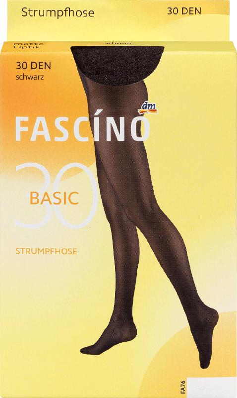 FASCÍNO Strumpfhose 30 den, schwarz, Gr. 42/44