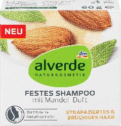 alverde NATURKOSMETIK Festes Shampoo mit Mandel-Duft