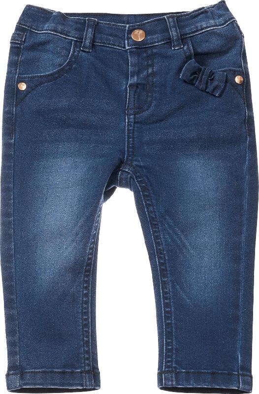 PUSBLU Baby Jeans, Gr. 80, in Baumwolle, Polyester und Elasthan, blau