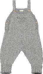 ALANA Baby Strampler, Gr. 56, in Bio-Baumwolle, grau, für Mädchen und Jungen