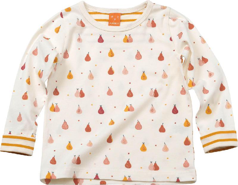 PUSBLU Kinder Pullover, Gr. 92, in Baumwolle und Elasthan, weiß, gelb