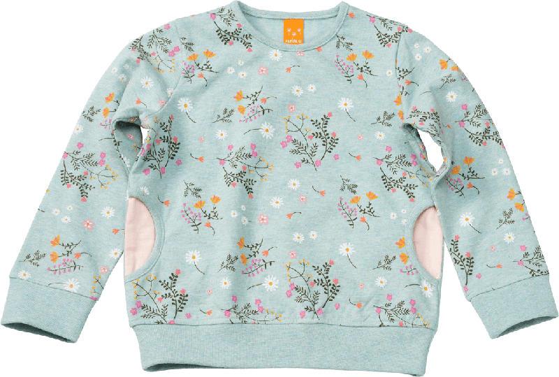 PUSBLU Kinder Pullover, Gr. 116, in Baumwolle und Polyester, mint, rosa