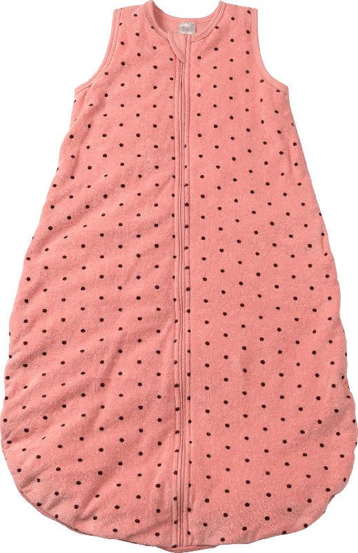 PUSBLU Kinder Schlafsack, 90 cm, in Bio-Baumwolle und recyceltem Polyester, rosa