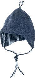 ALANA Baby Wollmütze, Gr. 44/45, in Bio-Schurwolle und Bio-Baumwolle, blau